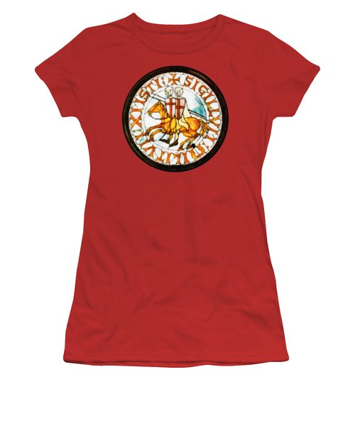 Seal Of The Knights Templar Women's T-Shirt (Athletic Fit)