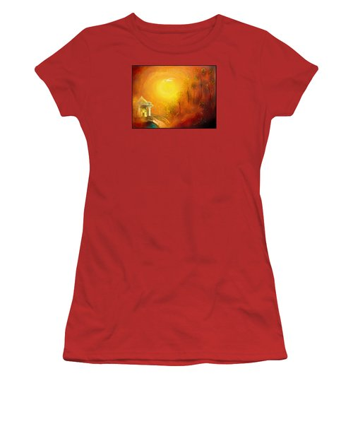 Women's T-Shirt (Junior Cut) featuring the painting Serenity by Michael Cleere