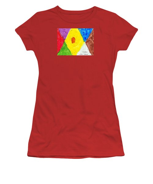 Women's T-Shirt (Junior Cut) featuring the painting Shapes by Artists With Autism Inc