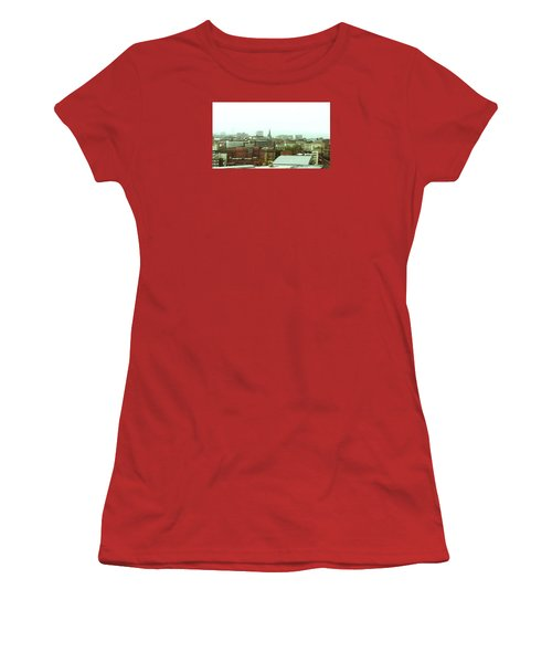 Women's T-Shirt (Athletic Fit) featuring the photograph Sheffield Skyline by Anne Kotan