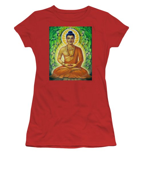 Women's T-Shirt (Junior Cut) featuring the painting Siddhartha by Sue Halstenberg