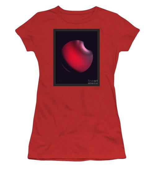 Women's T-Shirt (Junior Cut) featuring the digital art Simplicity 12-2 by John Krakora