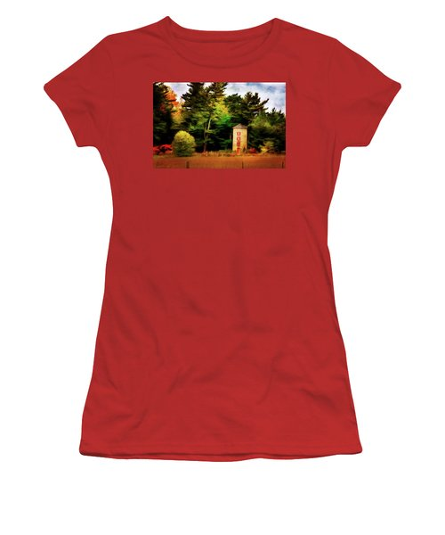 Small Autumn Silo Women's T-Shirt (Athletic Fit)