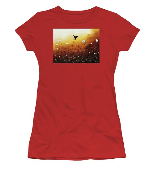 Women's T-Shirt (Junior Cut) featuring the painting Small Treasure by Carmen Guedez