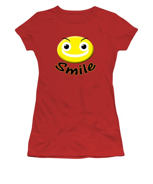 Smile T-shirt Women's T-Shirt (Junior Cut) by Isam Awad