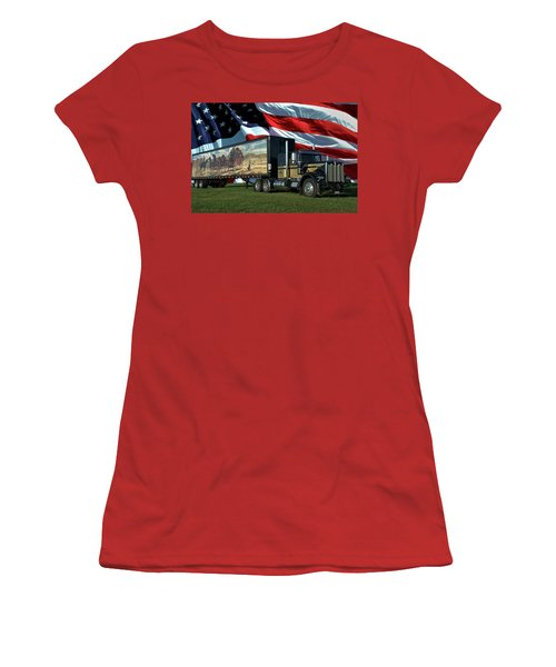 Snowmans Dream Semi Truck Women's T-Shirt (Athletic Fit)