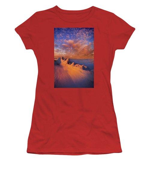 Women's T-Shirt (Junior Cut) featuring the photograph So It Begins by Phil Koch