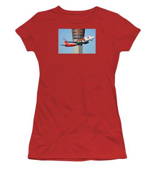 Southwest Boeing 737-3h4 N609sw California One Phoenix Sky Harbor January 21 2016 Women's T-Shirt (Athletic Fit)