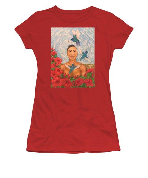 Spring Amazed By The Hummingbirds Women's T-Shirt (Junior Cut) by Kent Chua