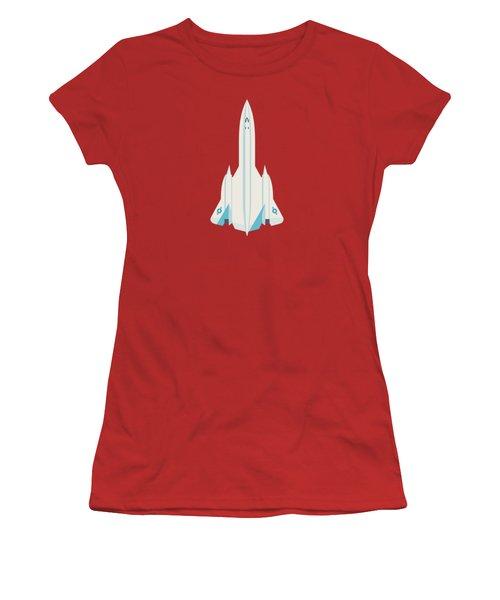 Sr-71 Blackbird Jet Aircraft - Crimson Women's T-Shirt (Athletic Fit)
