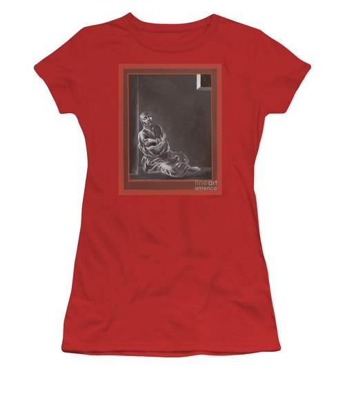 Women's T-Shirt (Athletic Fit) featuring the painting  St John Of The Cross In The Dark Night Of The Soul 290 by William Hart McNichols