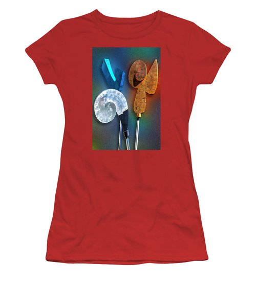 Women's T-Shirt (Junior Cut) featuring the photograph Staff Meeting by Paul Wear