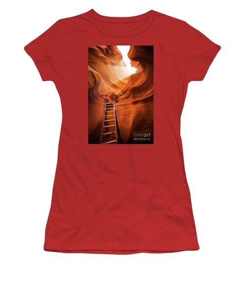 Stairway To Heaven Women's T-Shirt (Junior Cut) by JR Photography