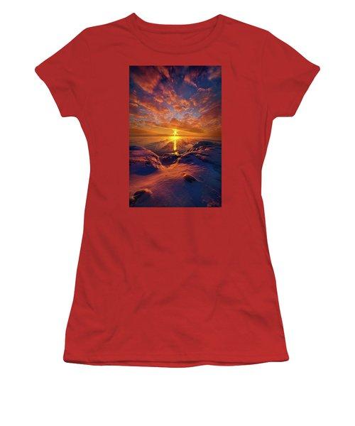 Women's T-Shirt (Junior Cut) featuring the photograph Standing Stilled by Phil Koch