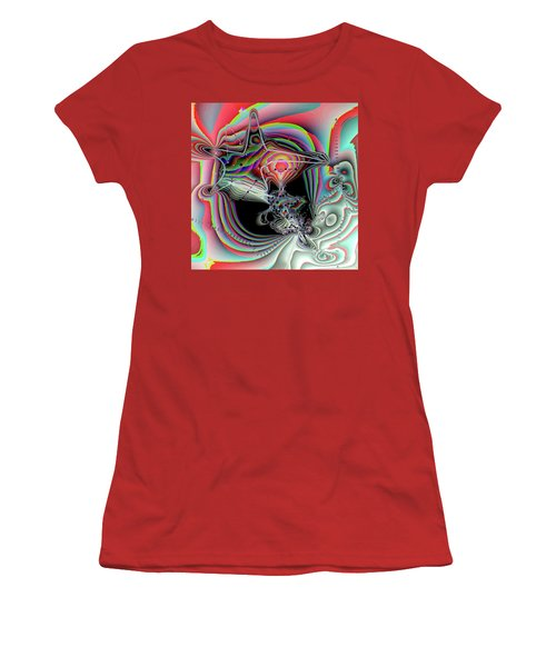 Women's T-Shirt (Junior Cut) featuring the digital art Star Defomation by Ron Bissett