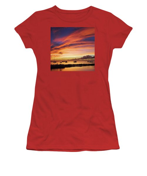 Store Bay, Tobago At Sunset #view Women's T-Shirt (Junior Cut) by John Edwards