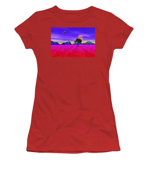 Strangely Place Women's T-Shirt (Junior Cut) by Mark Blauhoefer