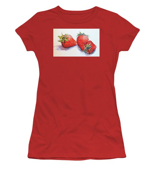 Strawberries Women's T-Shirt (Athletic Fit)
