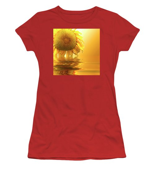Sunflower Sunset Women's T-Shirt (Junior Cut) by David French