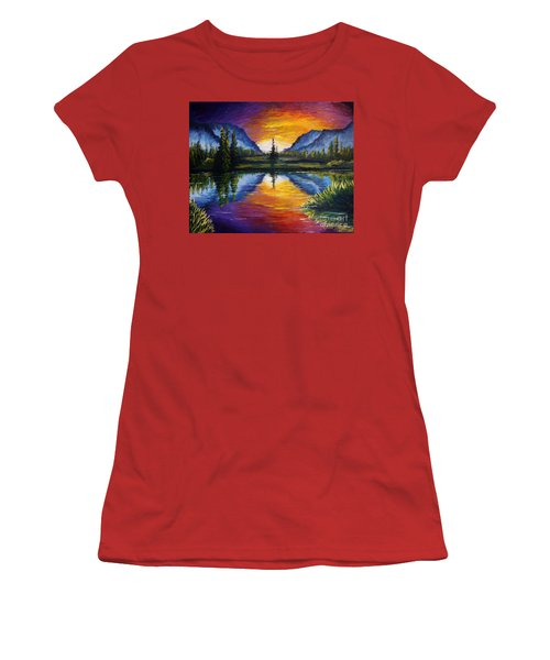 Sunrise Of Nord Women's T-Shirt (Athletic Fit)