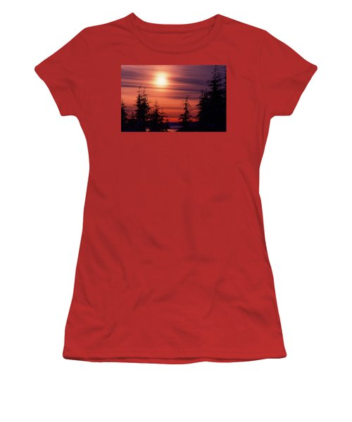 Sunset And Trees Two  Women's T-Shirt (Junior Cut) by Lyle Crump