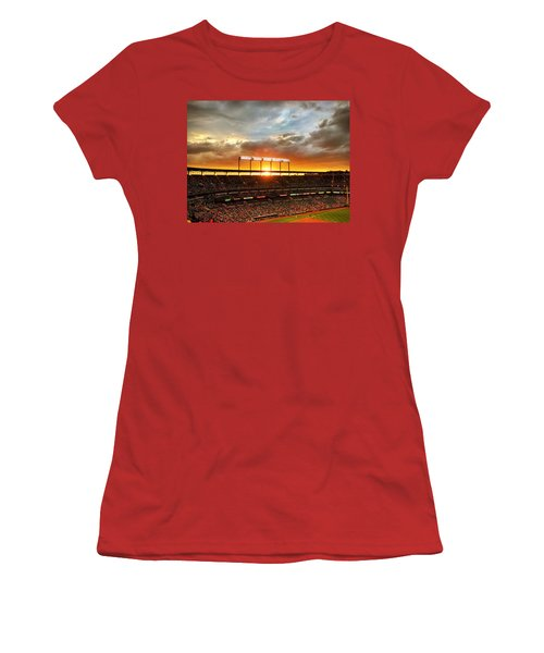 Sunset At Camden Yards Women's T-Shirt (Athletic Fit)
