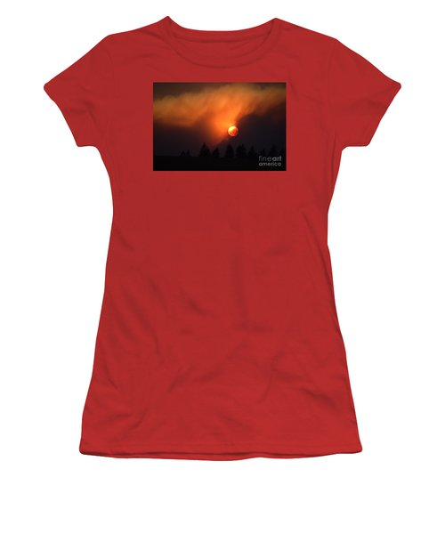Sunset Through Smoke Women's T-Shirt (Athletic Fit)