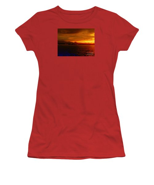 Sunset West Africa Women's T-Shirt (Junior Cut) by John Potts