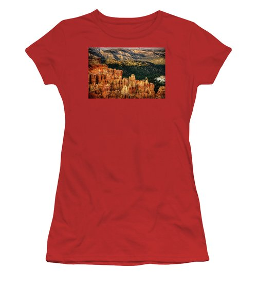 Women's T-Shirt (Junior Cut) featuring the photograph Sunsets In The Canyon by Rebecca Hiatt
