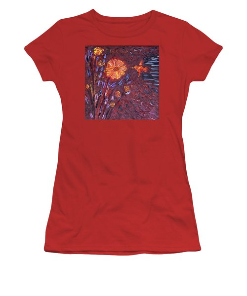 Sweet Flower Women's T-Shirt (Junior Cut) by Vadim Levin