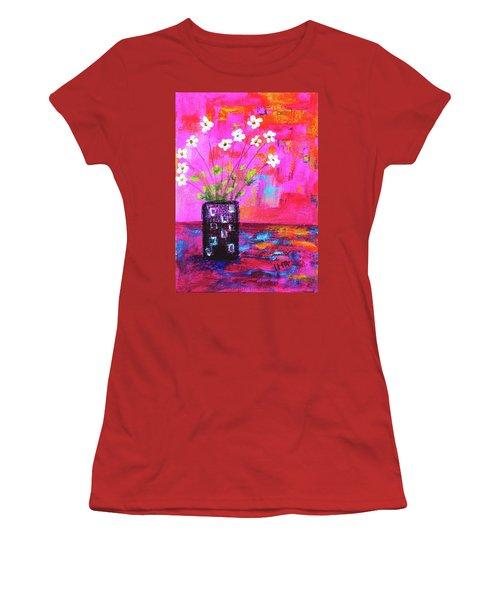 Sweet Little Flower Vase Women's T-Shirt (Athletic Fit)