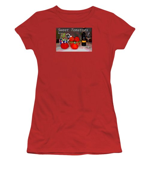 Sweet Tomatoes Women's T-Shirt (Junior Cut) by Charles Shoup