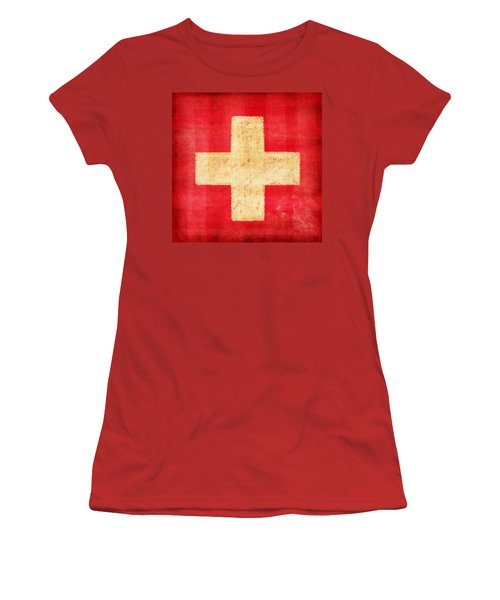 Switzerland Flag Women's T-Shirt (Athletic Fit)
