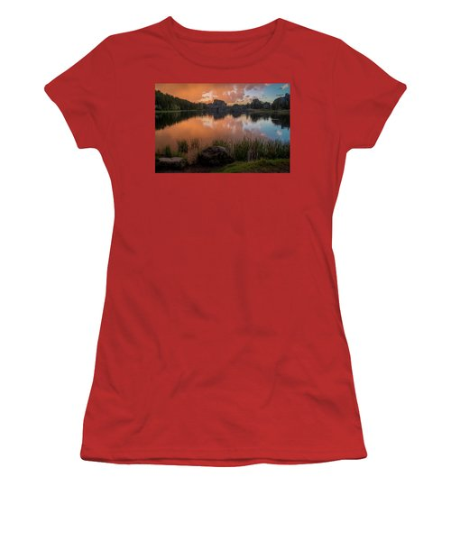 Women's T-Shirt (Athletic Fit) featuring the photograph Sylvan Lake by Gary Lengyel
