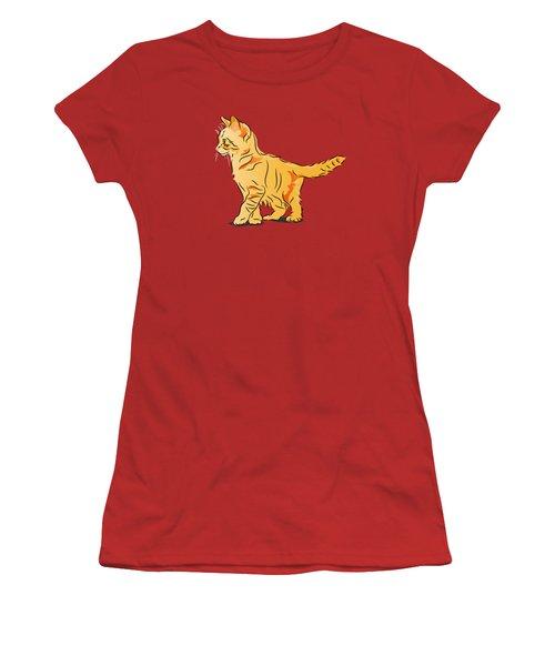 Women's T-Shirt (Junior Cut) featuring the digital art Tabby Kitten by MM Anderson