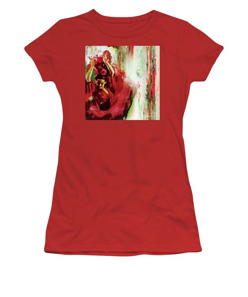 Women's T-Shirt (Junior Cut) featuring the painting Tango Dance 45g by Gull G