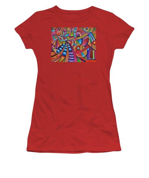 Technicolor Bloom Women's T-Shirt (Junior Cut) by Jason Williamson