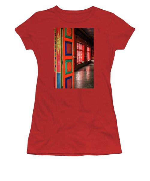 Women's T-Shirt (Junior Cut) featuring the photograph Temple Door by Alexey Stiop