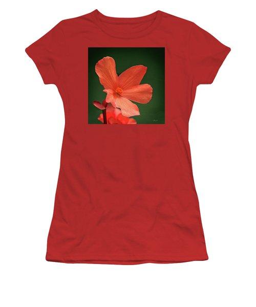 That Orange Flower Women's T-Shirt (Athletic Fit)