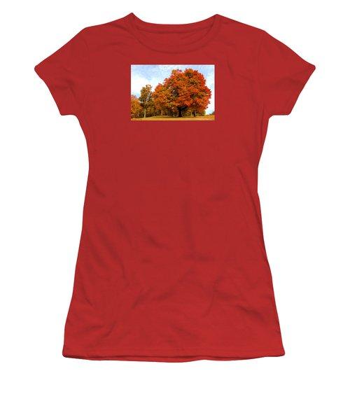 Women's T-Shirt (Junior Cut) featuring the photograph The Beauty Of Autumn  by Michael Rucker