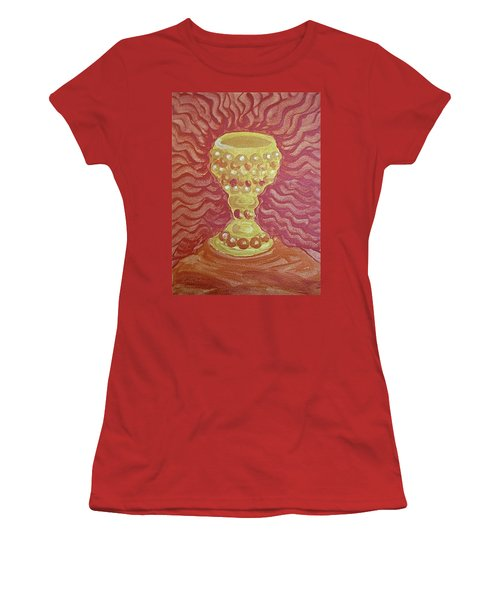 Women's T-Shirt (Athletic Fit) featuring the painting The Chalice Or Holy Grail by Michele Myers