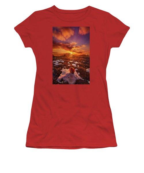 Women's T-Shirt (Junior Cut) featuring the photograph The Last Pumpkin by Phil Koch