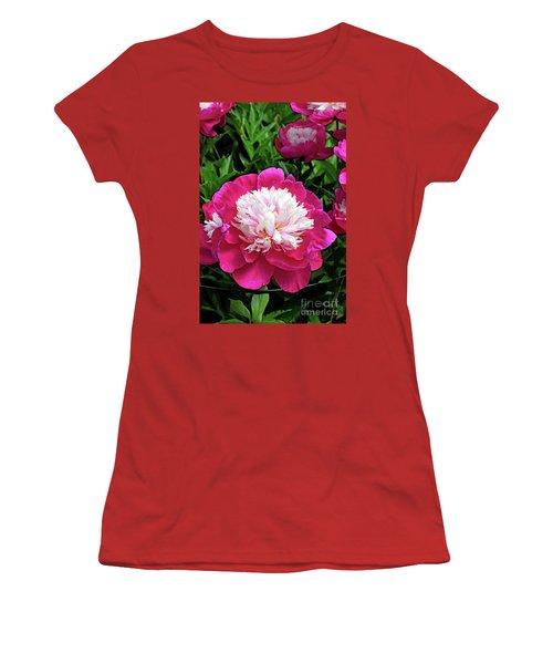 The Most Beautiful Peony Women's T-Shirt (Junior Cut) by Eva Kaufman