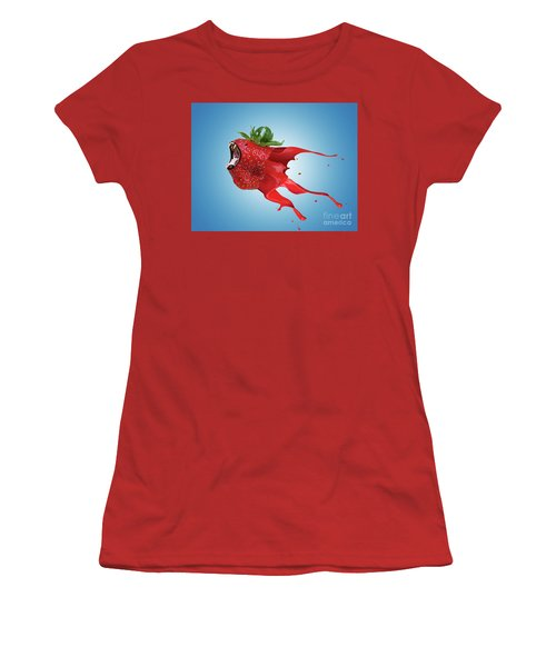 Women's T-Shirt (Junior Cut) featuring the photograph The New Gmo Strawberry by Juli Scalzi