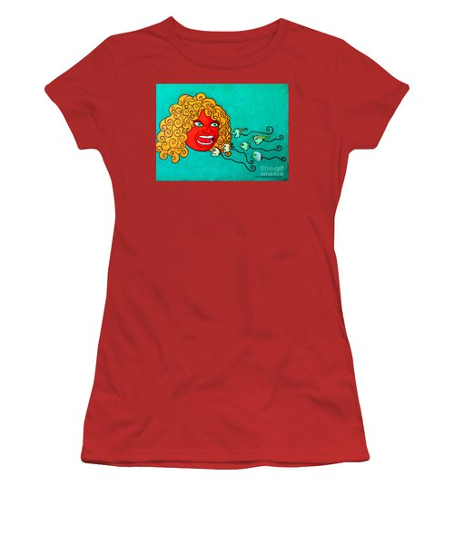 Women's T-Shirt (Junior Cut) featuring the painting The Race. by Don Pedro De Gracia
