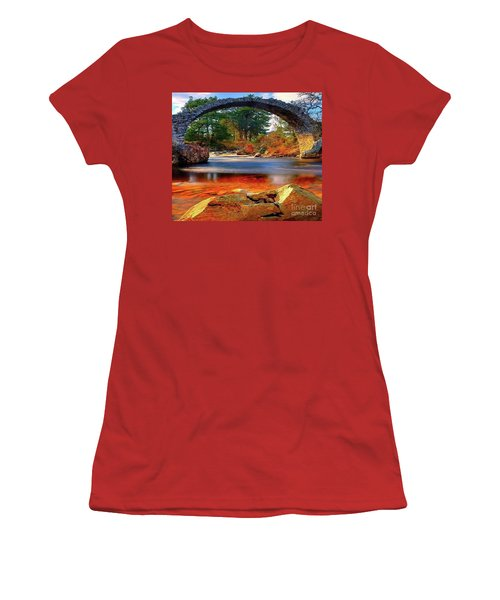 The Rock Bridge Women's T-Shirt (Athletic Fit)