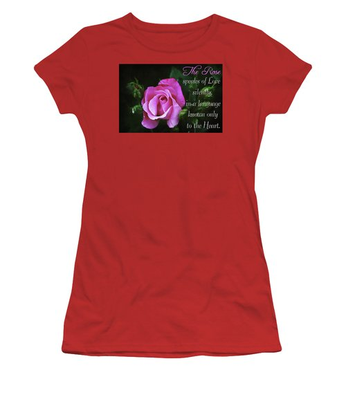 Women's T-Shirt (Athletic Fit) featuring the photograph The Rose by Trina Ansel