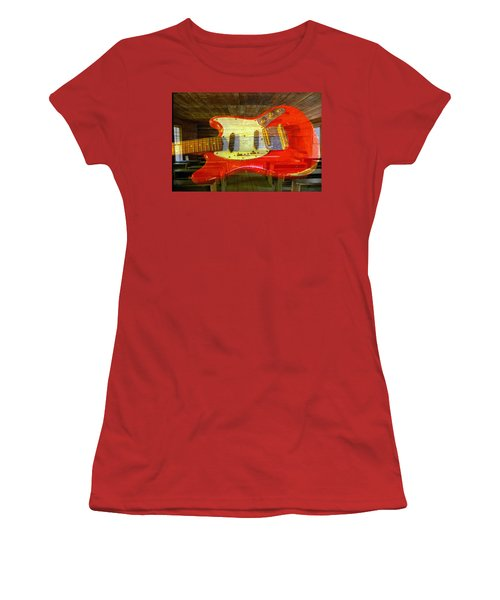 Women's T-Shirt (Junior Cut) featuring the photograph The School Of Rock by David Lee Thompson