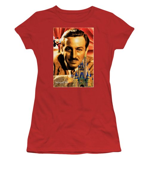 The World Of Walt Disney Women's T-Shirt (Junior Cut) by Ted Azriel