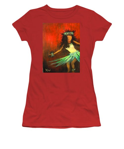 Women's T-Shirt (Junior Cut) featuring the painting The Young Dancer by Dan Whittemore